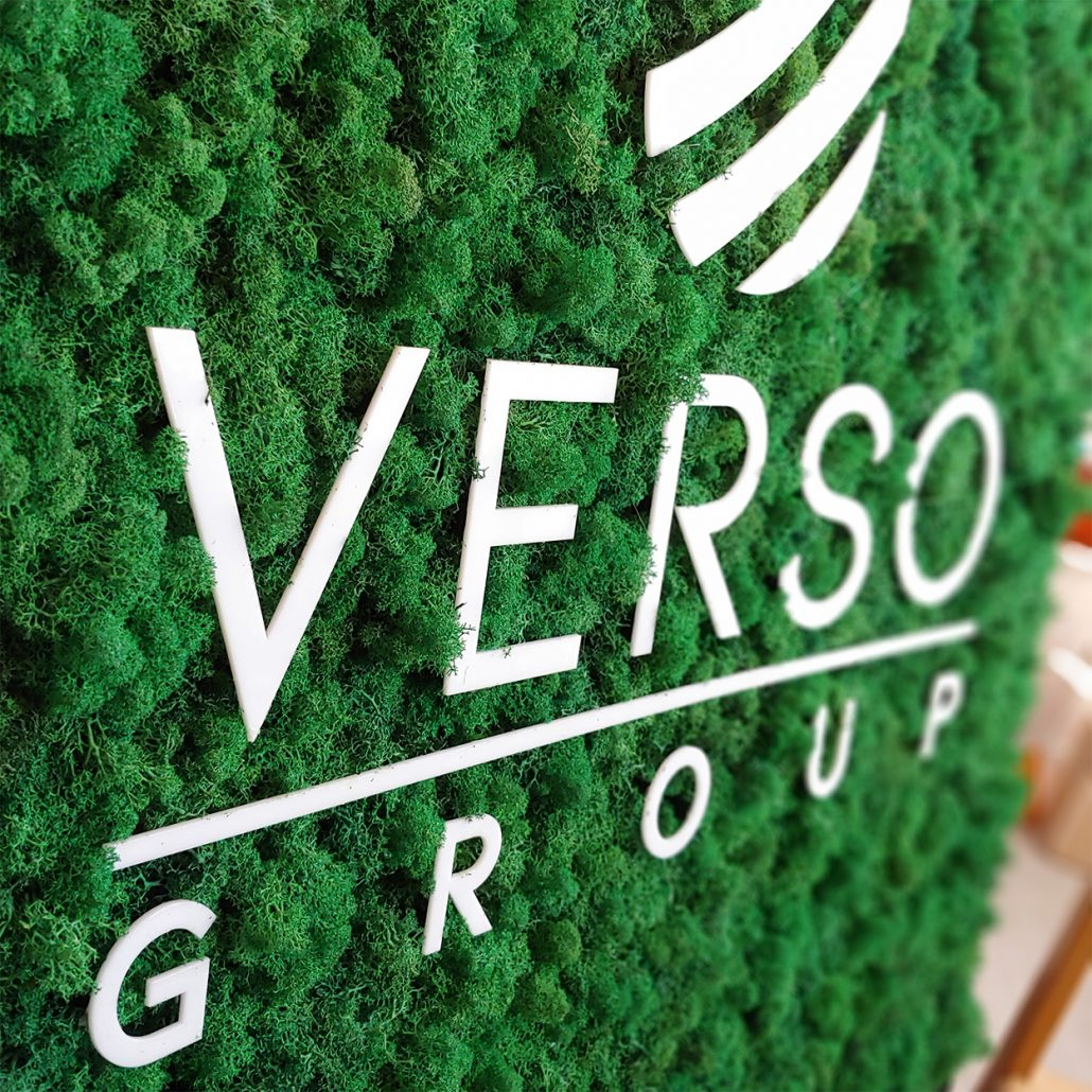 Handmade Office Decor - Bespoke Moss Signage